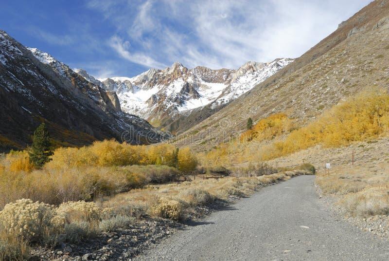 Colori di autunno in sierra montagne di Nevada immagine stock libera da diritti
