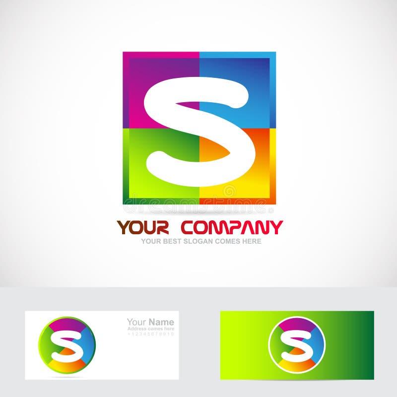 Colori di logo della lettera S illustrazione di stock