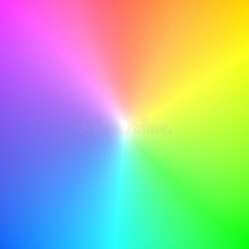 Colori di spettro dell'arcobaleno illustrazione di stock