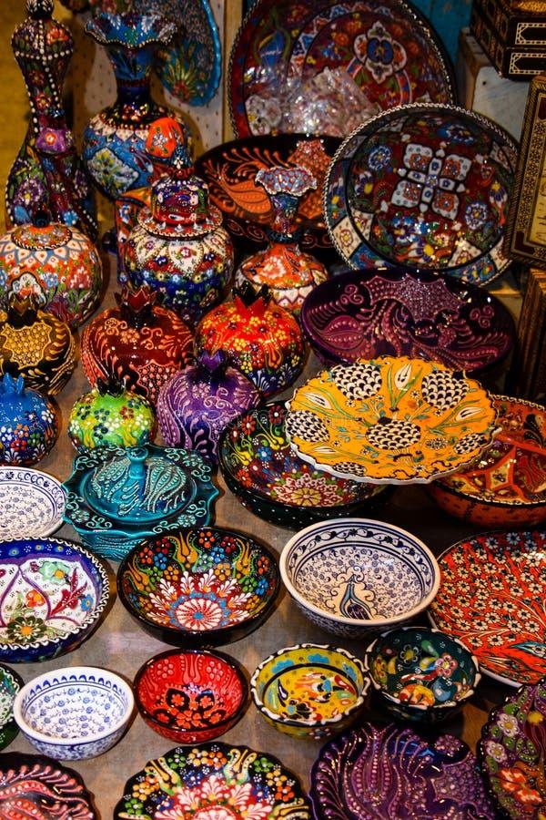 Colori di vecchio bazar di Gerusalemme immagini stock