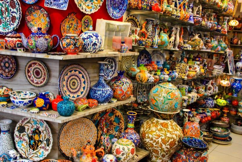 Colori di vecchio bazar di Gerusalemme fotografia stock libera da diritti