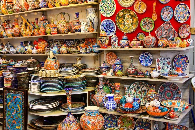 Colori di vecchio bazar di Gerusalemme immagine stock