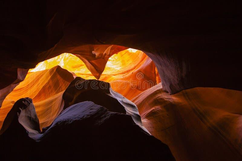Colori e strutture astratti dell'arenaria del canyon immagine stock libera da diritti