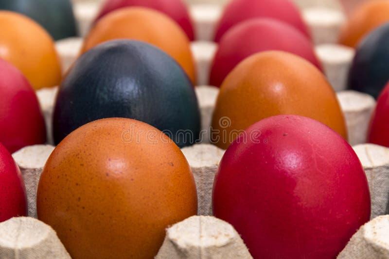 Colori e tradizione, uova di Pasqua fotografie stock libere da diritti