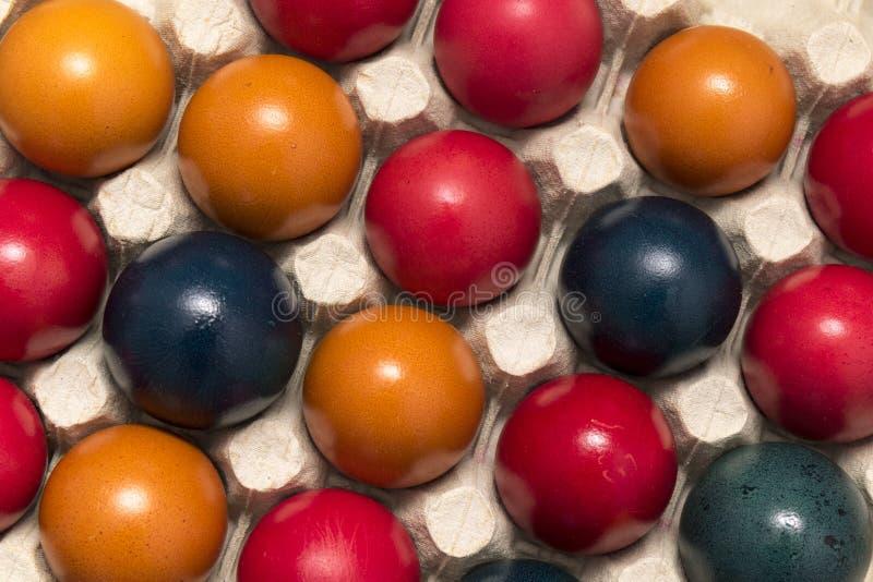 Colori e tradizione, uova di Pasqua fotografia stock