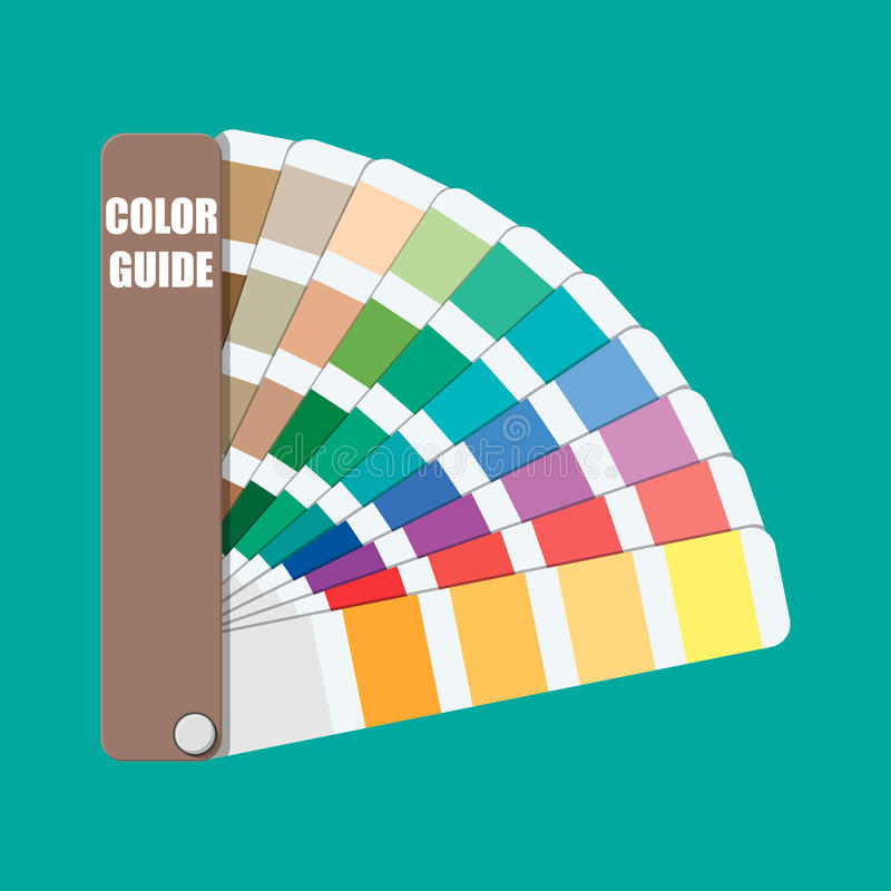 Colori il campione Guida della gamma di colori di colore illustrazione vettoriale