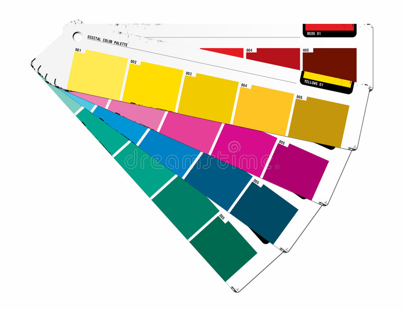 Colori il colore giallo della guida illustrazione di stock