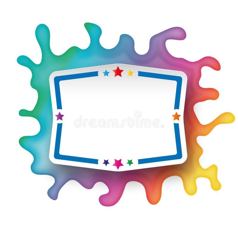 Download Colori Il Distintivo Di Carta Dell'icona Di Web Di Logo Di Gocce Della Spruzzata Illustrazione di Stock - Illustrazione di etichetta, moderno: 117978474