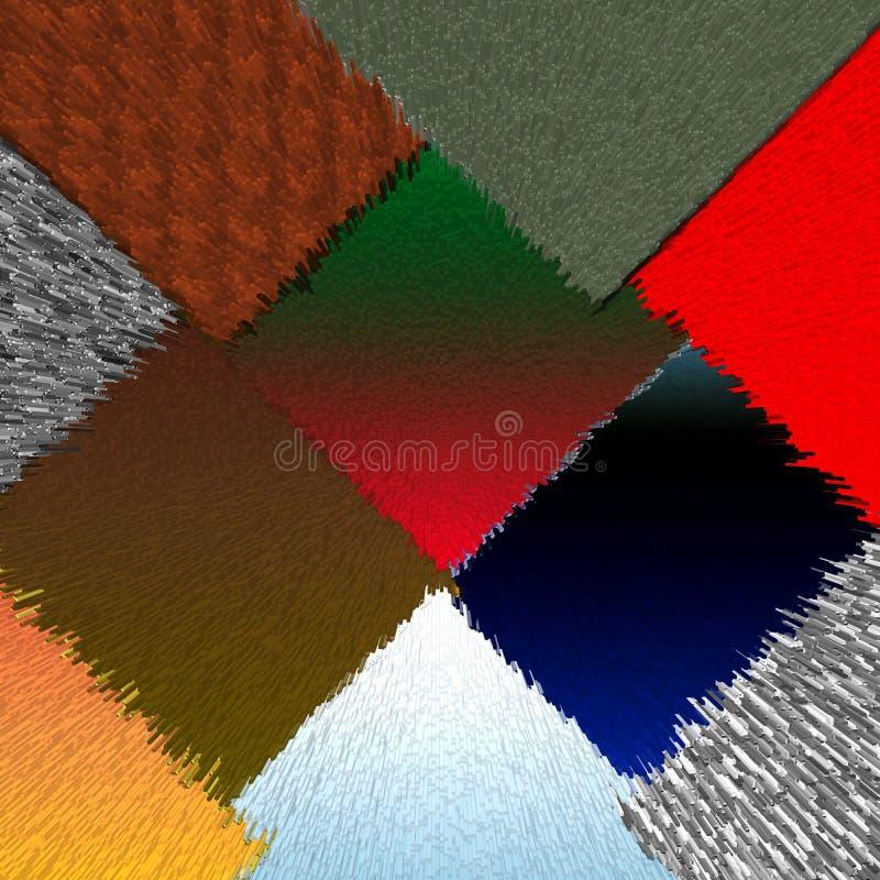 Colori il fondo astratto quadrato immagine stock libera da diritti