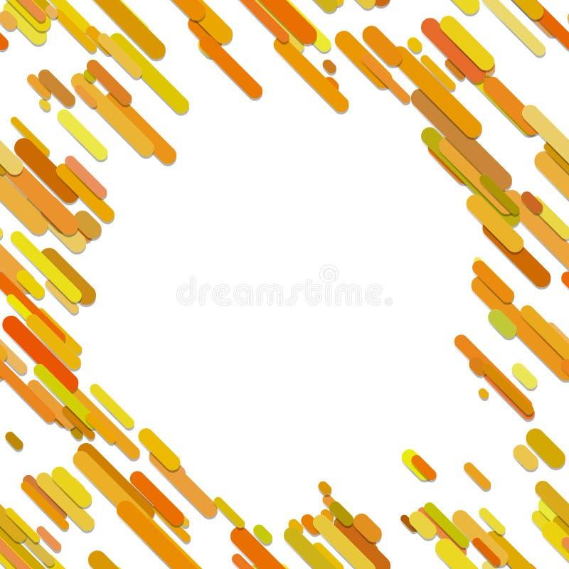 Colori il fondo diagonale arrotondato casuale astratto del modello della banda - grafico di vettore dalle bande colorate illustrazione vettoriale