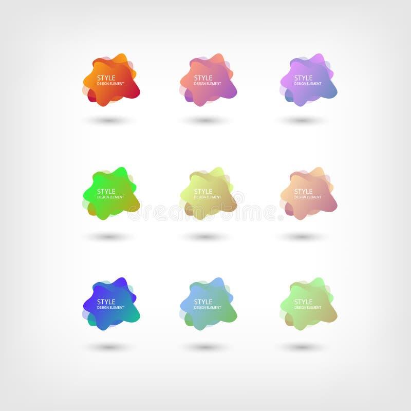 Colori il fondo fluido di pendenza di sovrapposizione di colore dei modelli di semitono liquidi astratti di forma Forme al neon c royalty illustrazione gratis