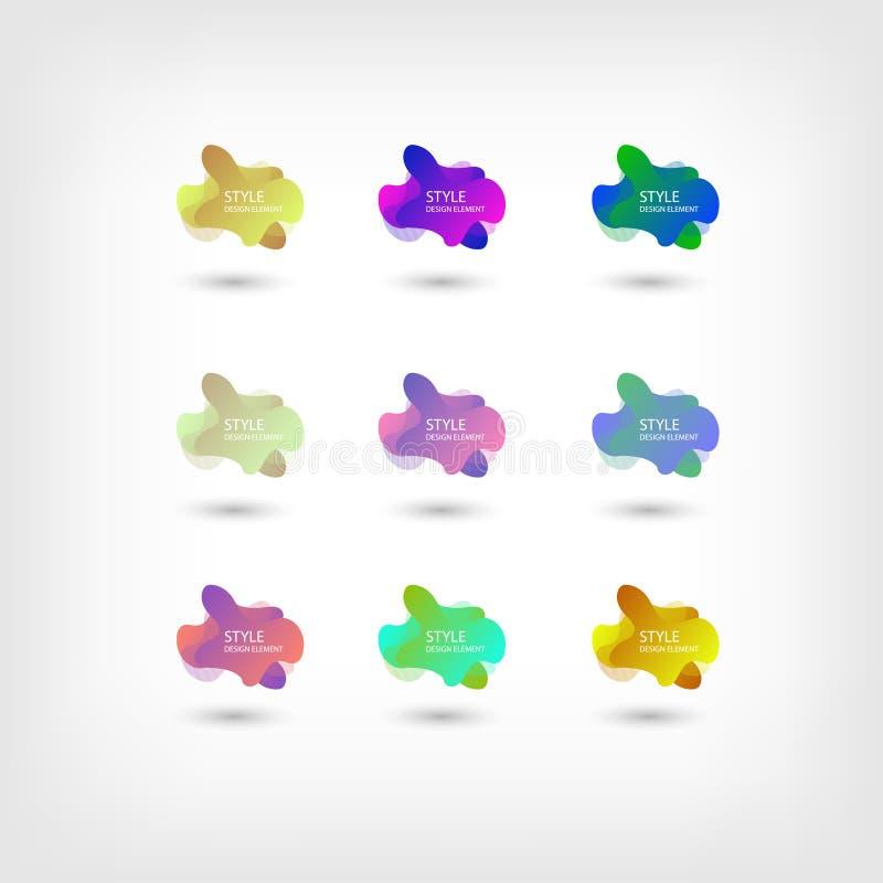 Colori il fondo fluido di pendenza di sovrapposizione di colore dei modelli di semitono liquidi astratti di forma Forme al neon c illustrazione vettoriale