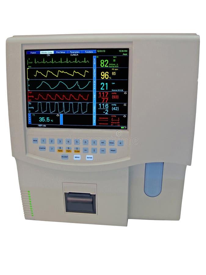 Colori il visualizzatore digitale cardiovascolare di doppler, fotografia stock libera da diritti