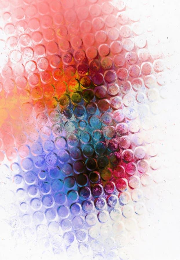 Colori l'effetto astratto di vetro e del fondo e la struttura del cerchio della luce illustrazione vettoriale