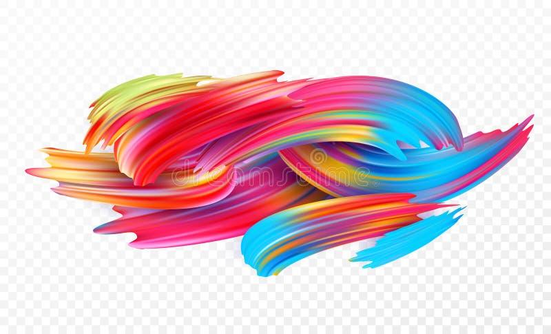 Colori l'olio di pennellata o l'elemento di progettazione della pittura acrilica per le presentazioni, le alette di filatoio, gli royalty illustrazione gratis