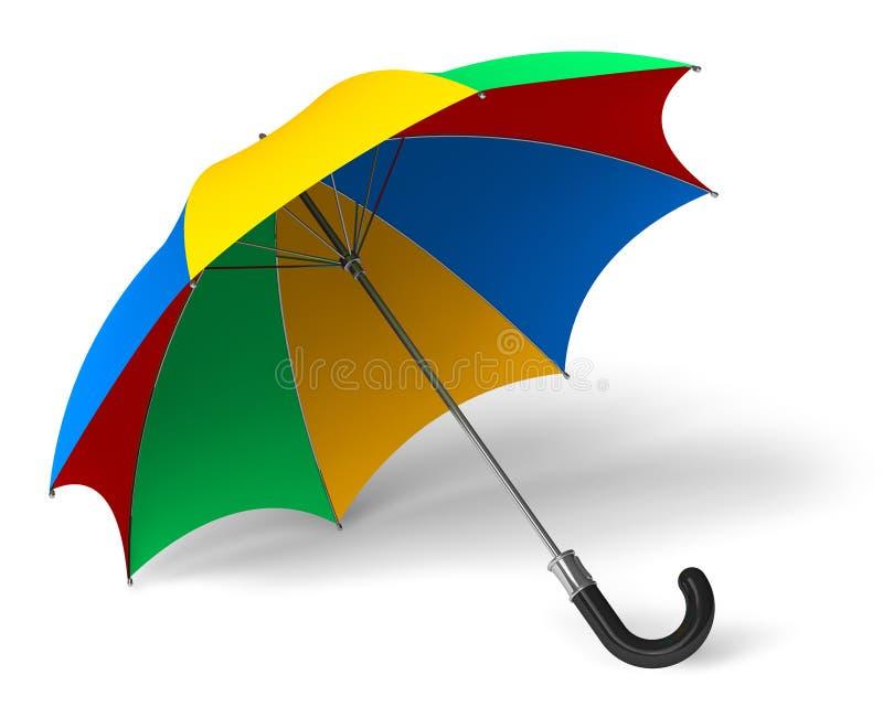 Colori l'ombrello illustrazione di stock