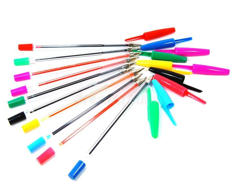 Colori le penne fotografia stock libera da diritti