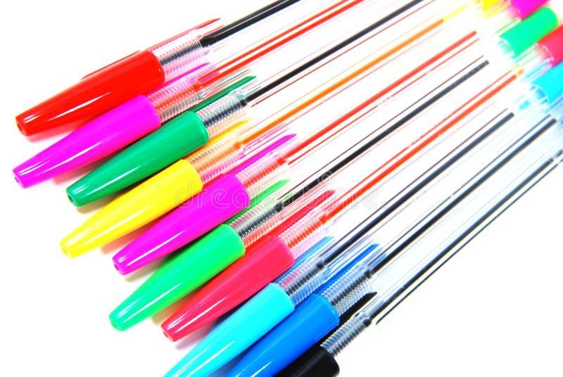 Colori le penne fotografia stock