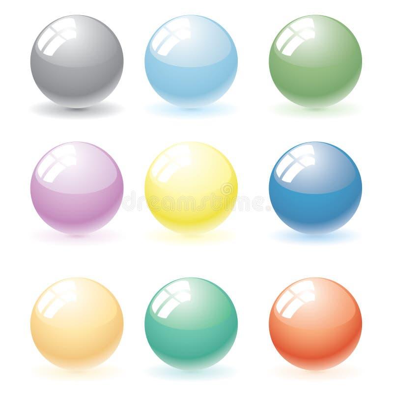 Colori le sfere illustrazione di stock
