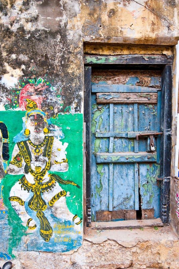 Colori luminosi di vita di via indiana L'India del sud, Tamil Nadu fotografia stock libera da diritti