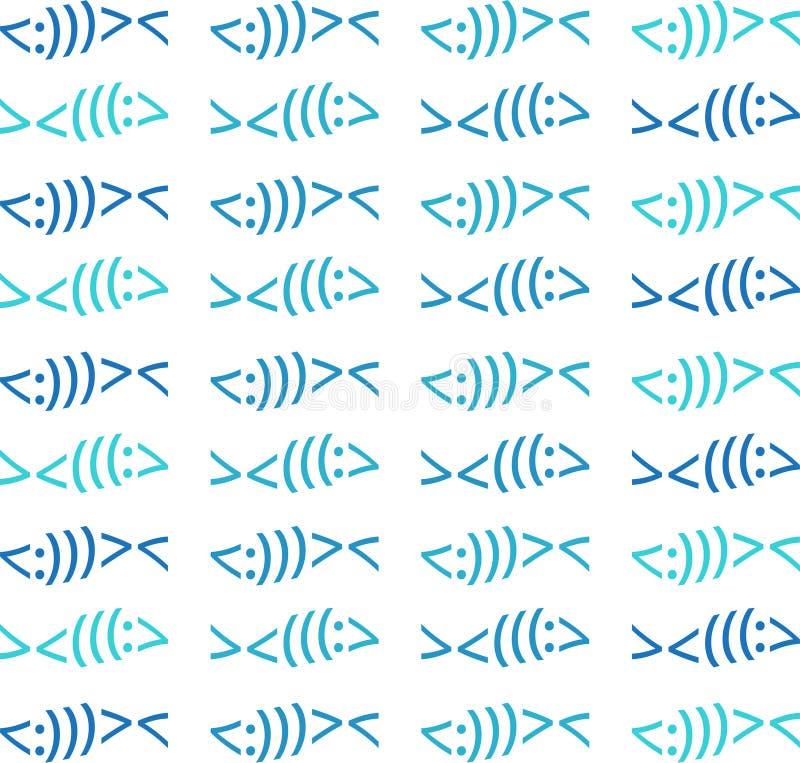 Colori moderni di Christian Fish Symbol Pattern Beach illustrazione di stock
