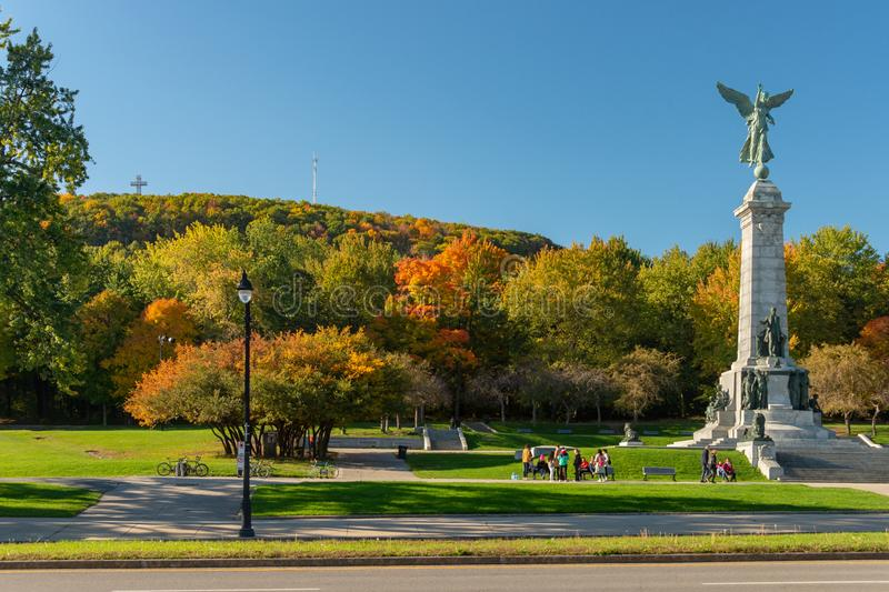 Colori Mont-reali di autunno fotografie stock libere da diritti