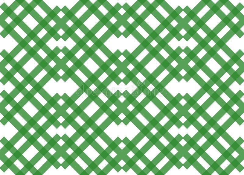 Colori pastelli di vettore della banda del modello del fondo dell'acqua verde senza cuciture di struttura Estratto a strisce diag royalty illustrazione gratis