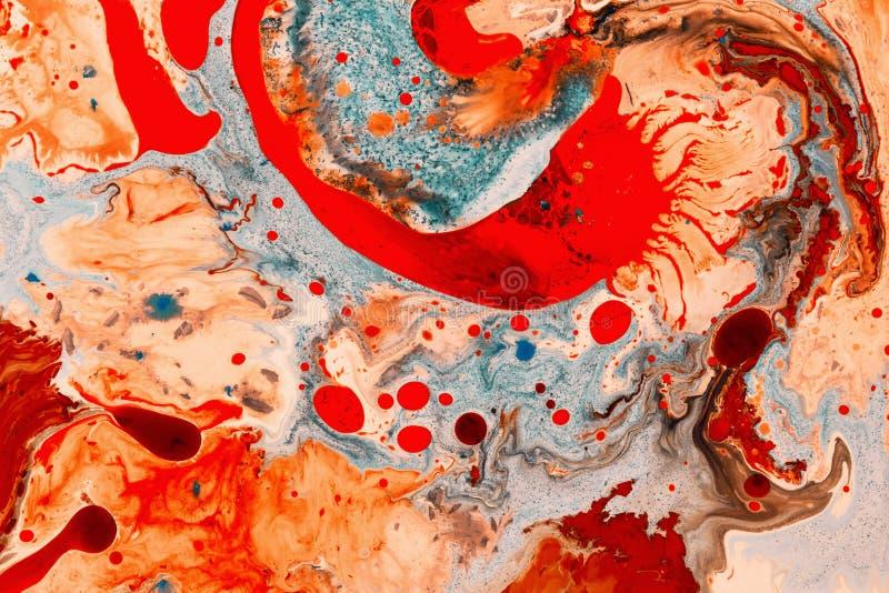 Colori pazzi Forme e forme Arte liquida fotografia stock libera da diritti