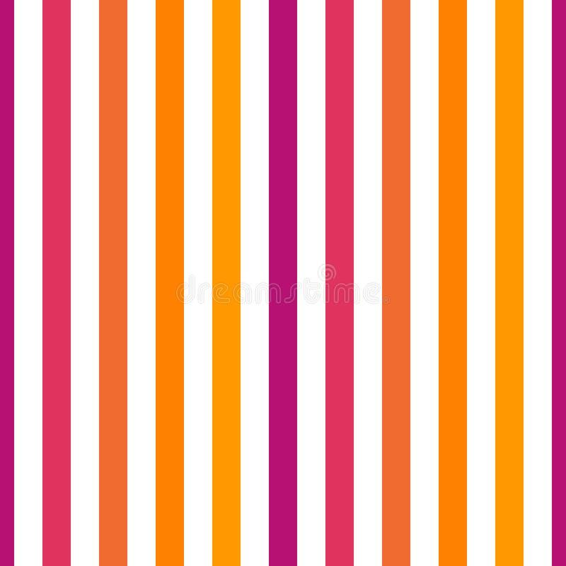 Colori porpora ed arancio gialli di rosa della banda senza cuciture del modello, Illustrazione verticale di vettore del fondo del illustrazione vettoriale