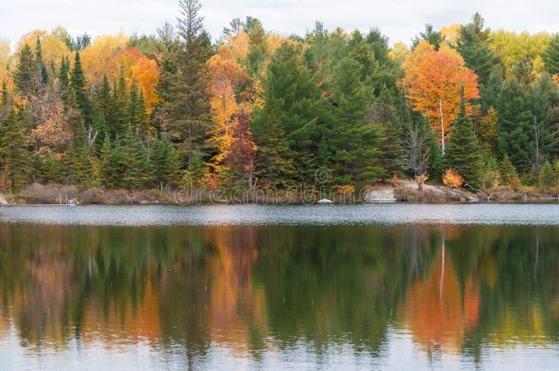 Colori sul lago, Ontario Canada di autunno fotografie stock libere da diritti