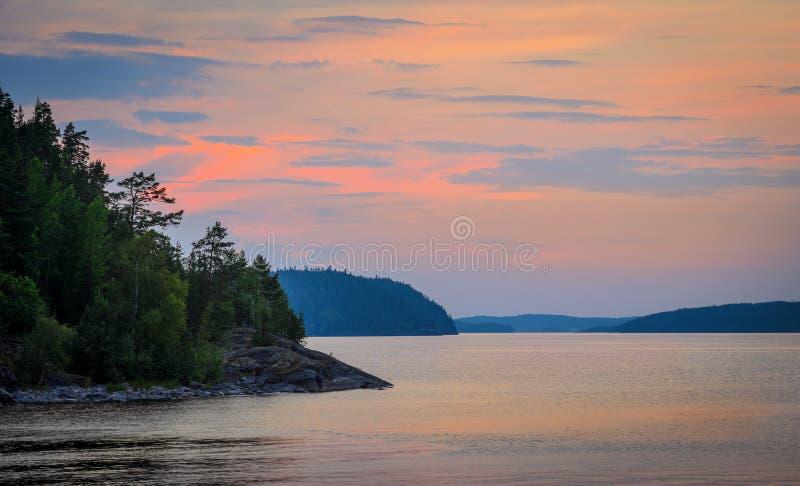 Colori teneri del tramonto immagini stock