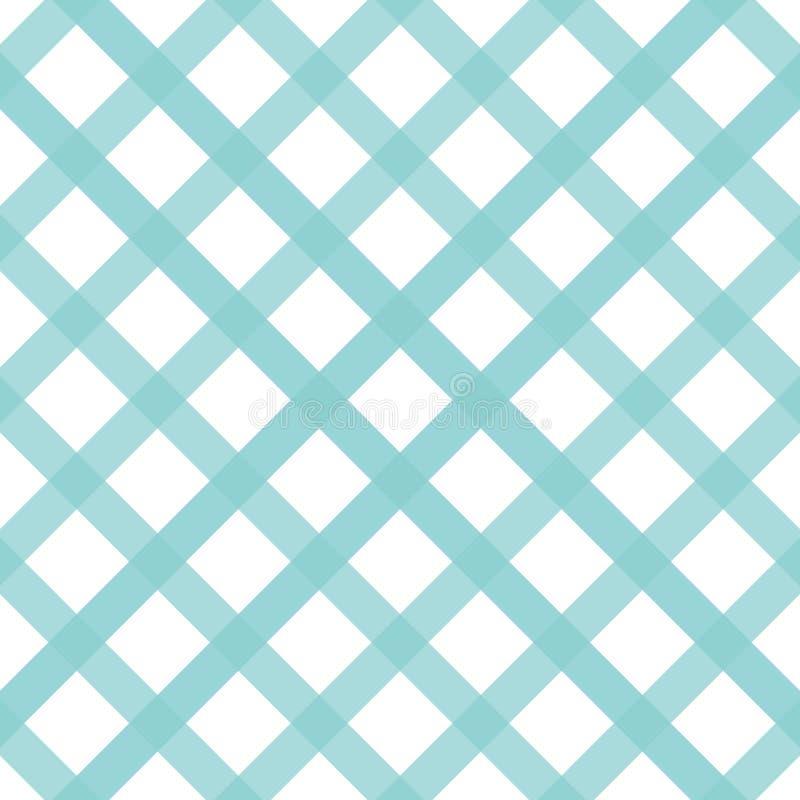 Colori verdi senza cuciture dell'acqua della banda del modello Vettore astratto del fondo del modello del tartan geometrico della illustrazione di stock