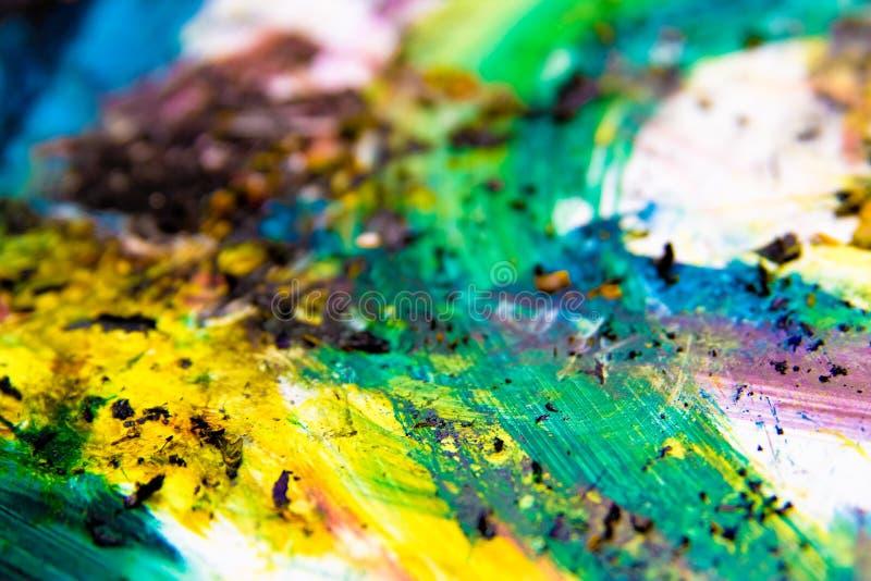 Colori vibranti della vernice variopinta immagine stock