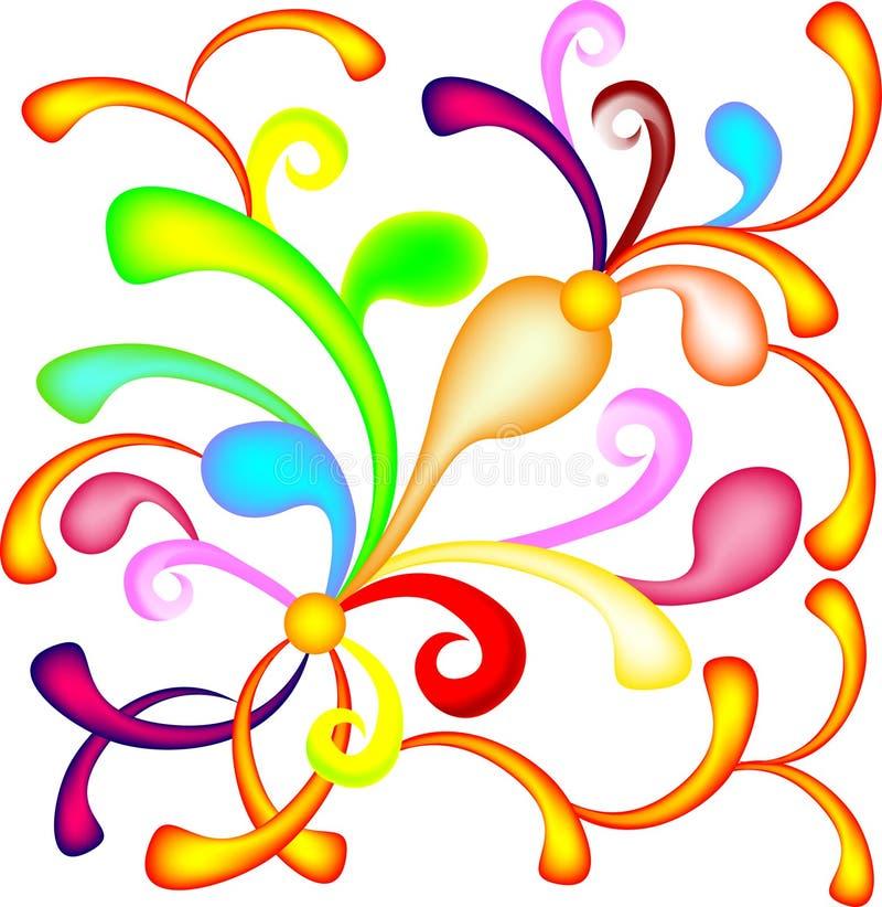 Colorido abstrato espirra ilustração stock