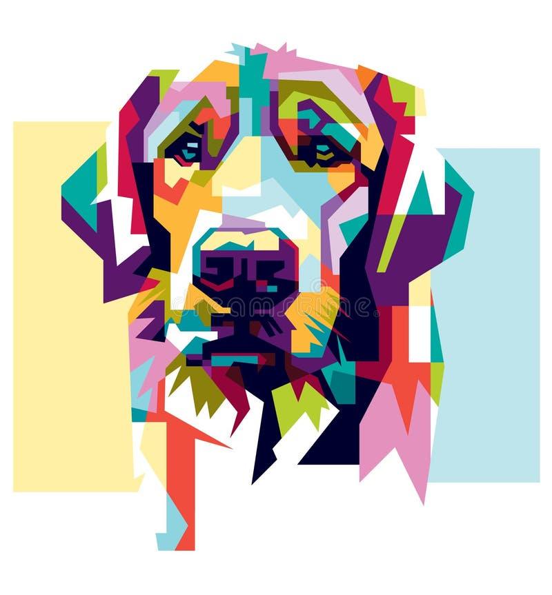 Colorido arte del perro del estilo foto de archivo libre de regalías
