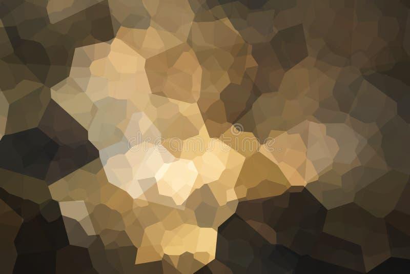 Colorido cristalize o fundo abstrato no creme amarelo macio a imagem de stock royalty free