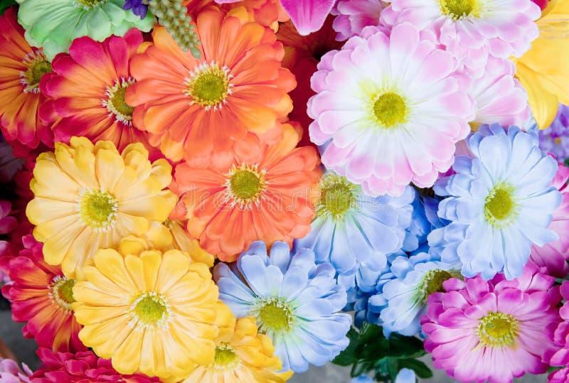 Colorido de la floración artificial de la flor del gerbera fotografía de archivo