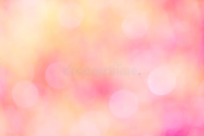 Colorido de rosa dulce borroso luz del bokeh fotografía de archivo libre de regalías