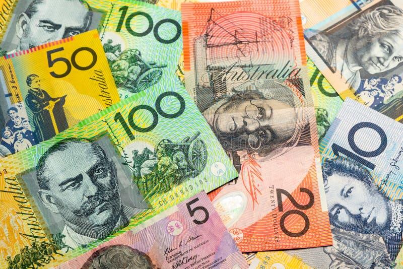 Colorido do fundo dos dólares australianos fotos de stock royalty free