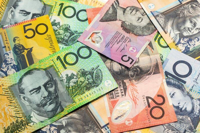Colorido do fundo dos dólares australianos foto de stock