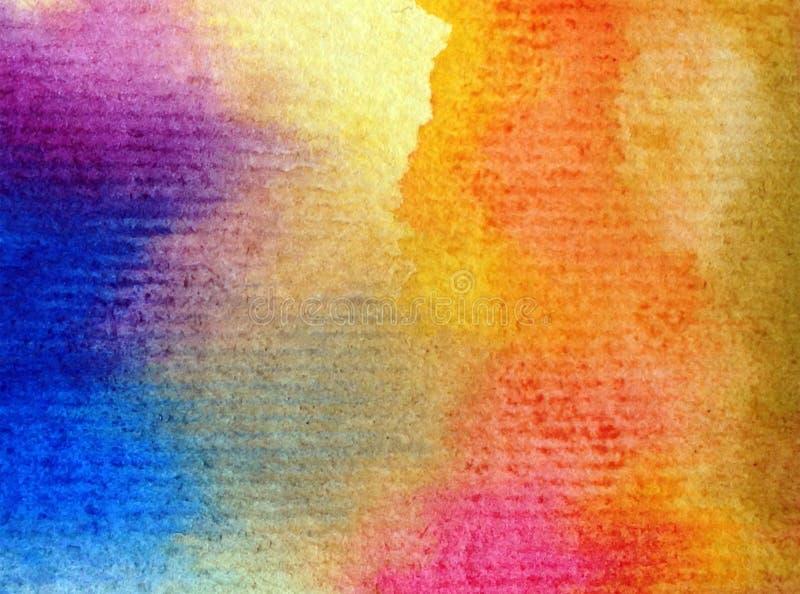 Colorido do sumário do fundo da arte da aquarela textured ilustração royalty free