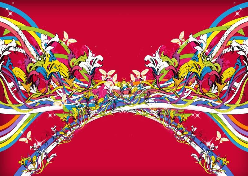 Colorido festivo del fondo floral foto de archivo