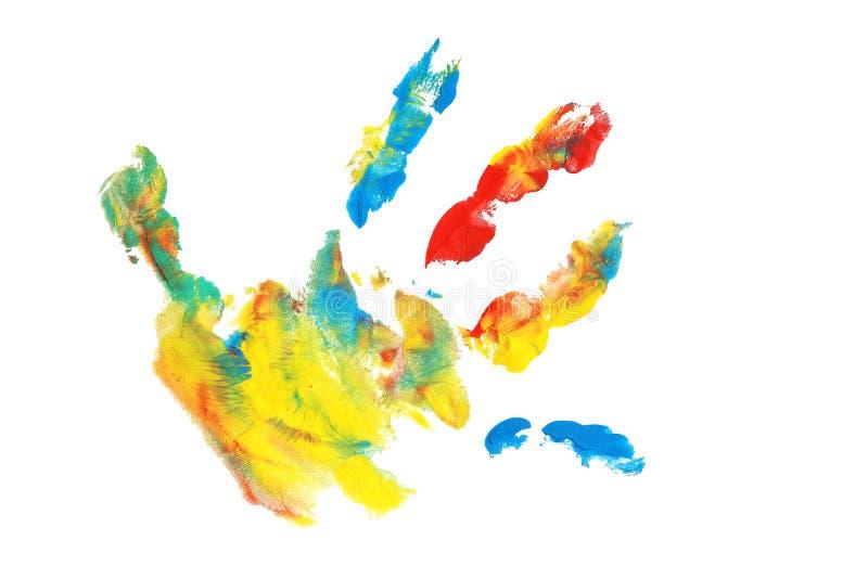 Colorido FingerPaint fotos de archivo libres de regalías
