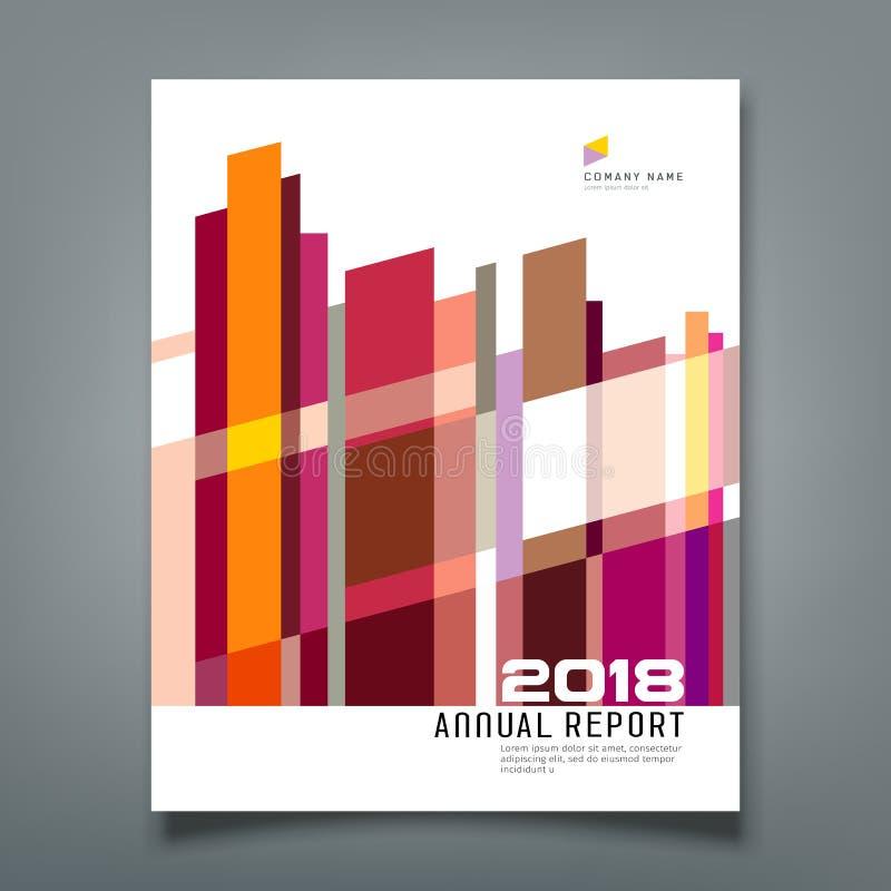 Colorido geométrico do sumário do informe anual da tampa ilustração do vetor