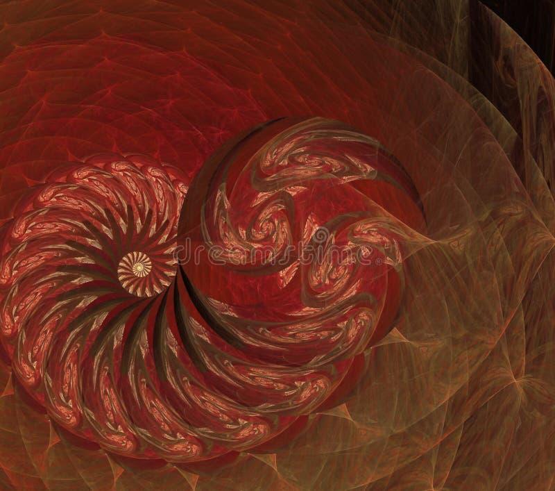 Colorido geom?trico futurista del fractal psicod?lico de los ejemplos ilustración del vector