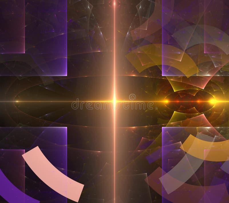 Colorido geom?trico futurista do fractal psicad?lico das ilustra??es ilustração royalty free