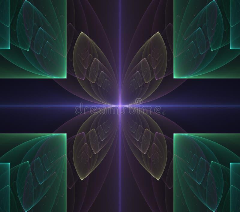Colorido geom?trico futurista do fractal psicad?lico das ilustra??es ilustração do vetor