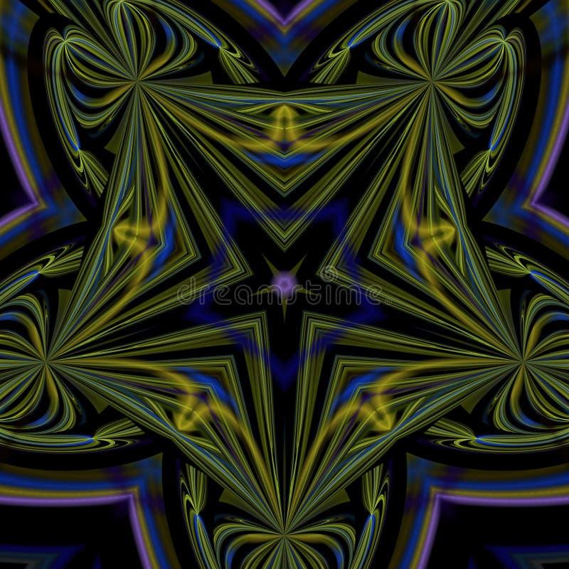 Colorido geom?trico futurista do fractal psicad?lico das ilustra??es ilustração stock