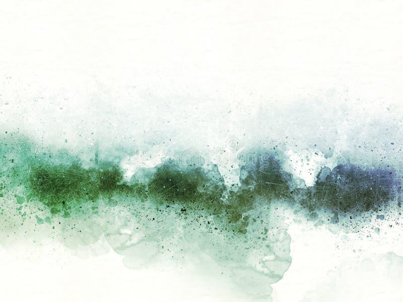 Colorido hermoso abstracto en fondo y el contexto del ejemplo de la pintura de la acuarela ilustración del vector