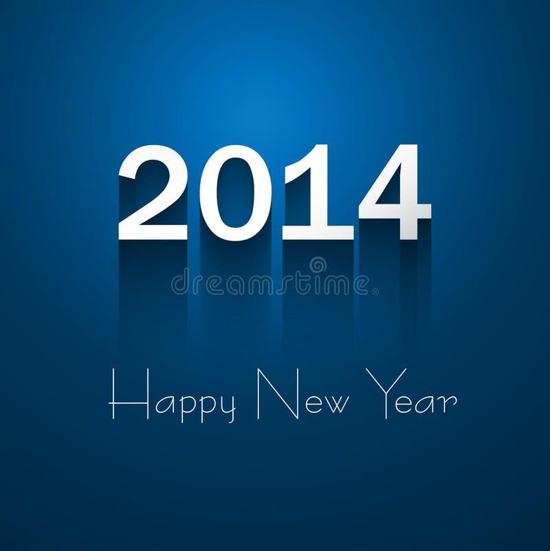 Colorido hermoso del texto de la Feliz Año Nuevo 2014 stock de ilustración